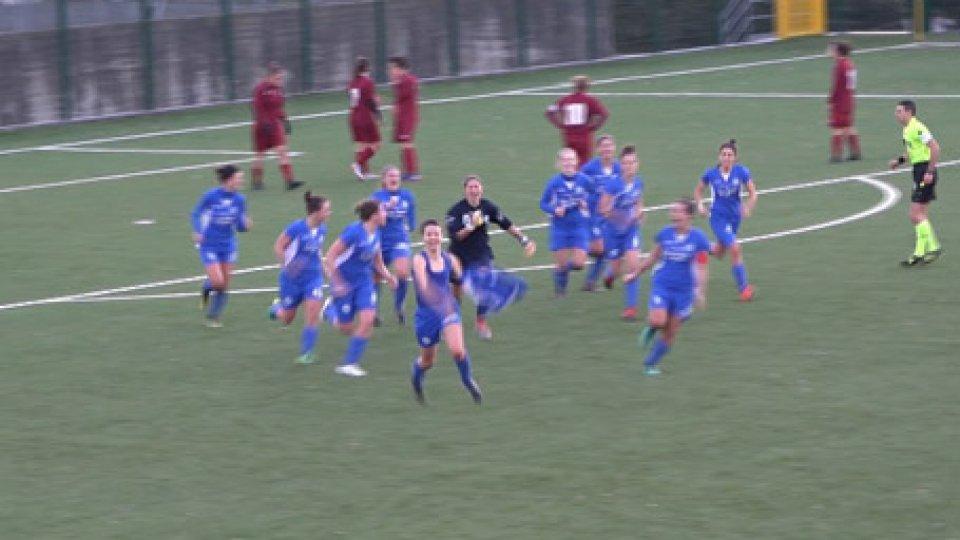 L'esultanza dell'AcademyPareggio in extremis per la San Marino Academy contro il Pontedera. Il recupero di campionato termina 1-1