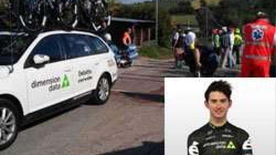 Rimini: giovane ciclista gravissimo dopo l'impatto contro un'auto ammiragliaRimini: giovane ciclista in fin di vita durante una competizione - Le immagini