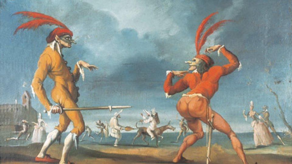 Capitan babbeo e Cucuba, scena della Commedia dell'Arte
