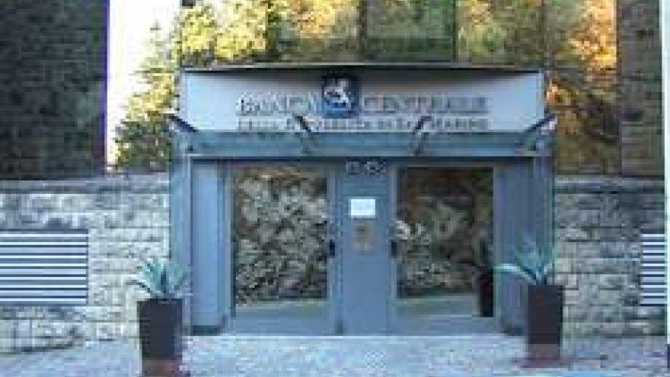 La sede di Banca CentraleBanca Centrale: già predisposto il trasferimento di alcuni dipendenti ai Servizi Esattoria e Tesoreria