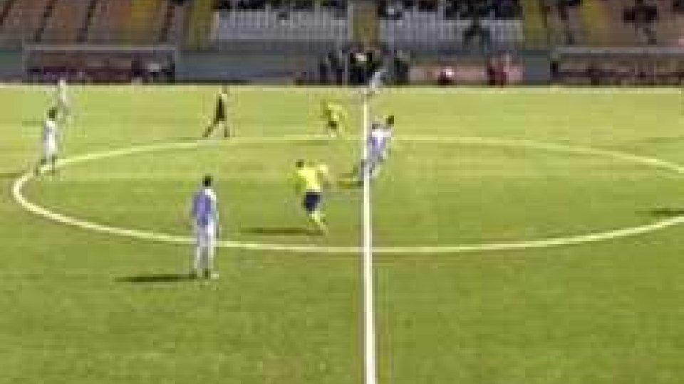 Il calcio di inizio di Mazara-Sanremese.Coppa Italia Eccellenza Sanremese conquista il trofeo