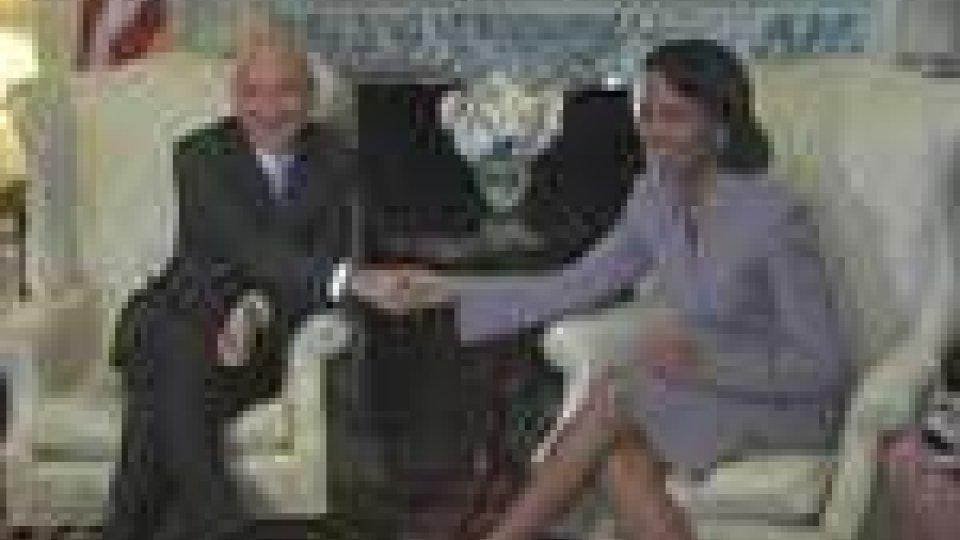 Fiorenzo Stolfi e Condoleeza Rice