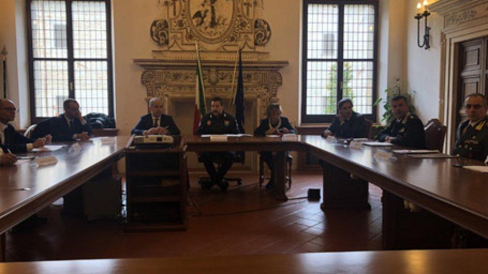 Il vicepremier Matteo Salvini in Prefettura a Pesaro
