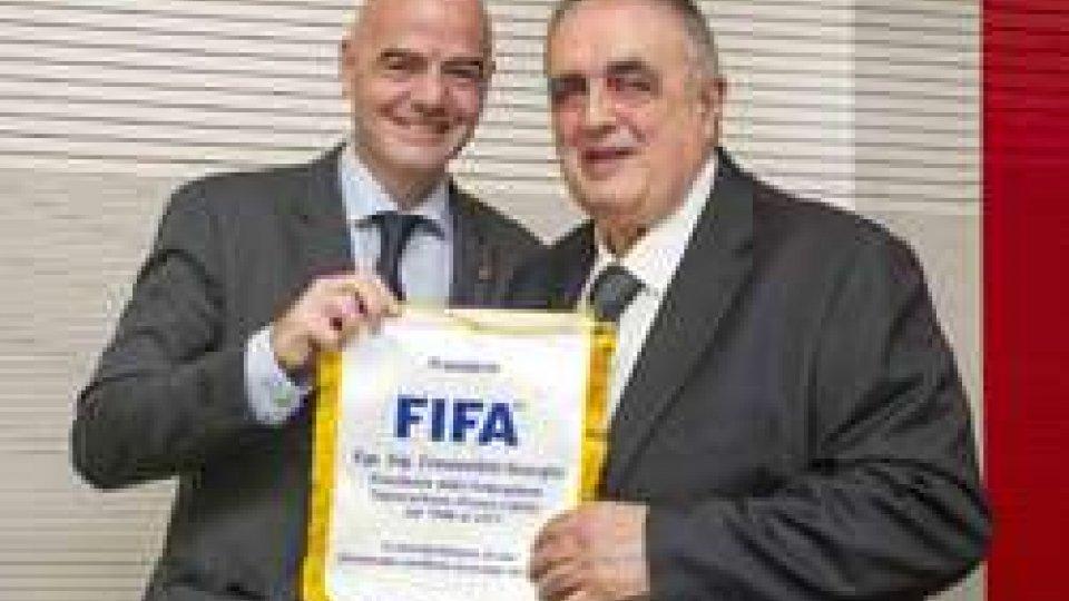 Gianni Infantino e Giorgio Crescentini (@FSGC)