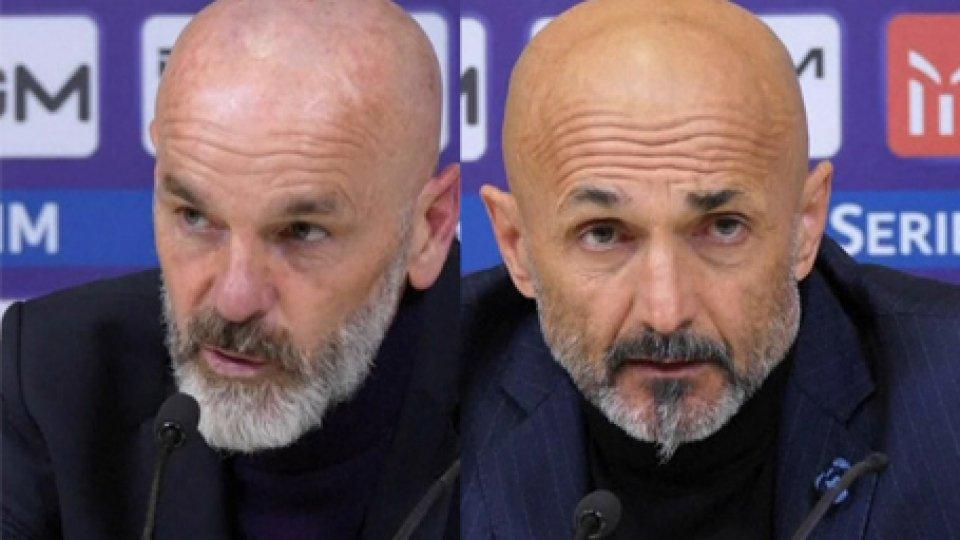 Pioli e SpallettiFiorentina - Inter 3-3 parlano gli allenatori
