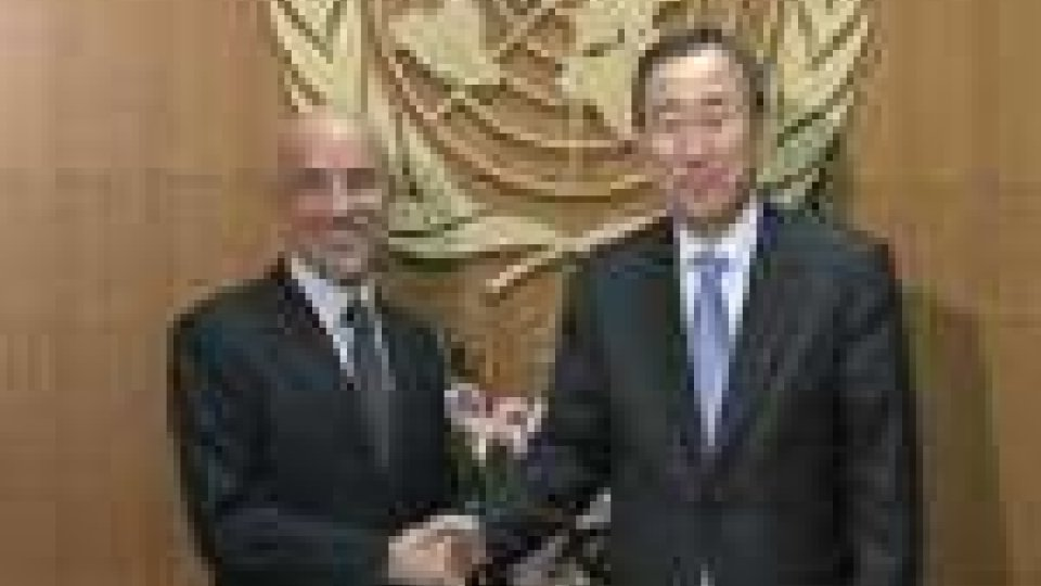 Fiorenzo Stolfi e Ban Ki-Moon