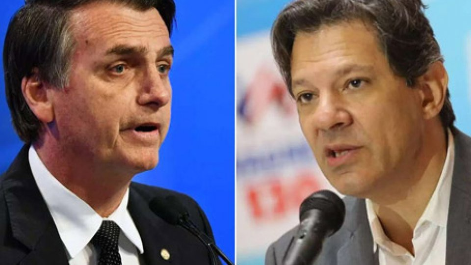 Bolsonaro (PSL) e Haddad (PT)