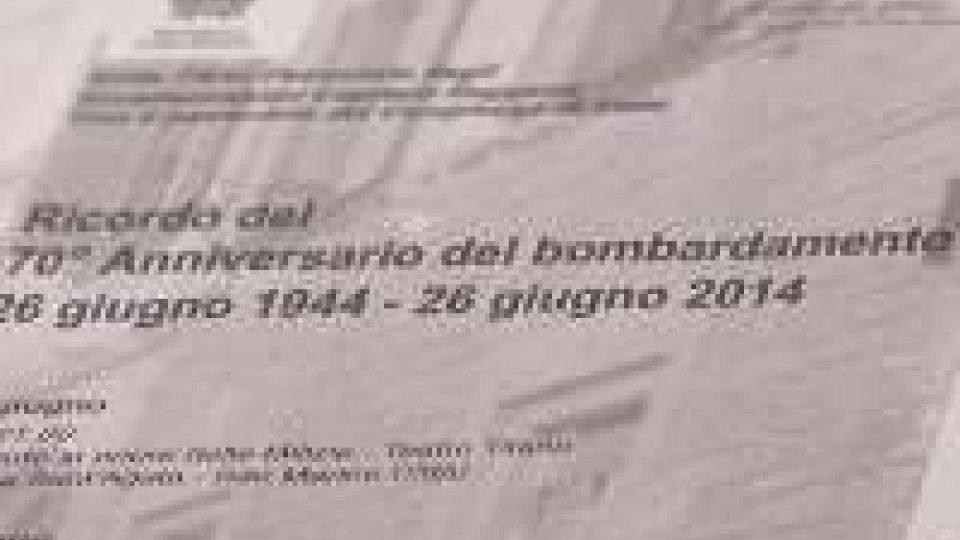 26 giugno 1944-26 giugno 2014: venerdì il ricordo del 70° del bombardamento26 giugno 1944-26 giugno 2014: giovedì il ricordo del 70° del bombardamento