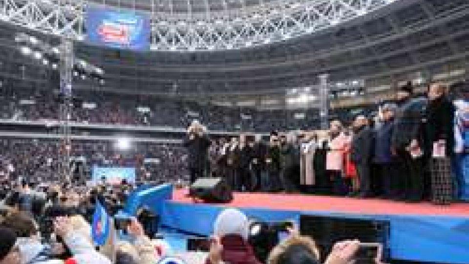 Putin al Luzhniki di Mosca
