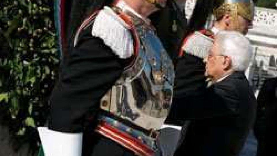 4 novembre: Mattarella e Renzi all'Altare della patria