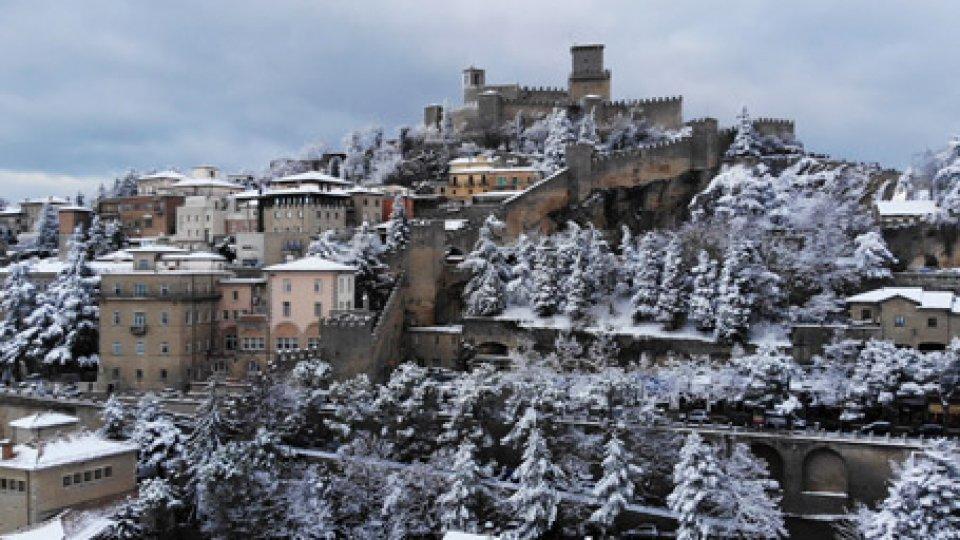 San Marino innevata