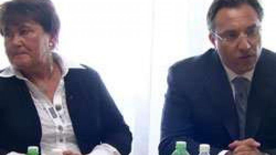 """Zsuzanna Jakob e Francesco MussoniOms: """"Sanità sammarinese esempio in Europa"""""""
