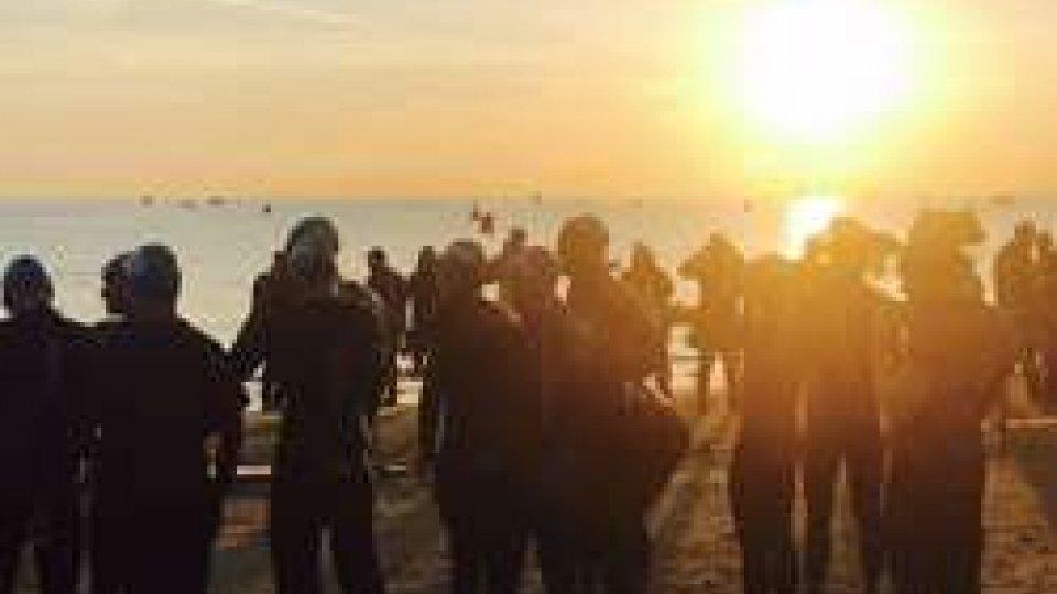 la partenza del nuoto (ph Twitter)