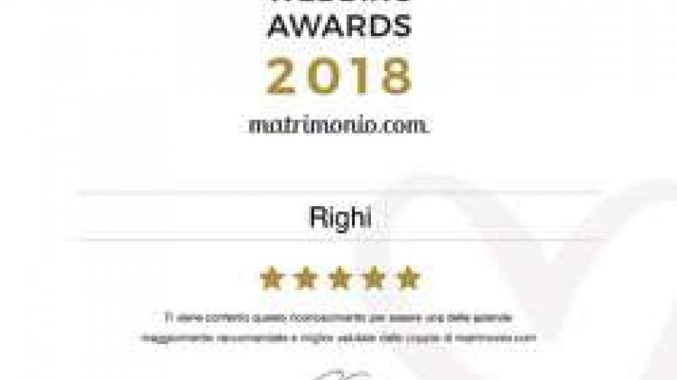 Righi Catering riceve il premio più prestigioso delle nozze: Wedding Awards 2018