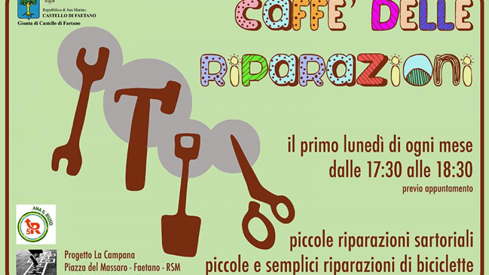 Al Centro Aggregativo La Campana nasce un nuovo progetto in collaborazione con 5R: Ama il Riuso: il CAFFE' DELLE RIPARAZIONI.