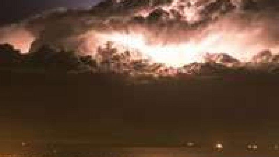 Rimini, tempesta di vento: alberi abbattuti e spiaggia allagata, moltissimi i danni