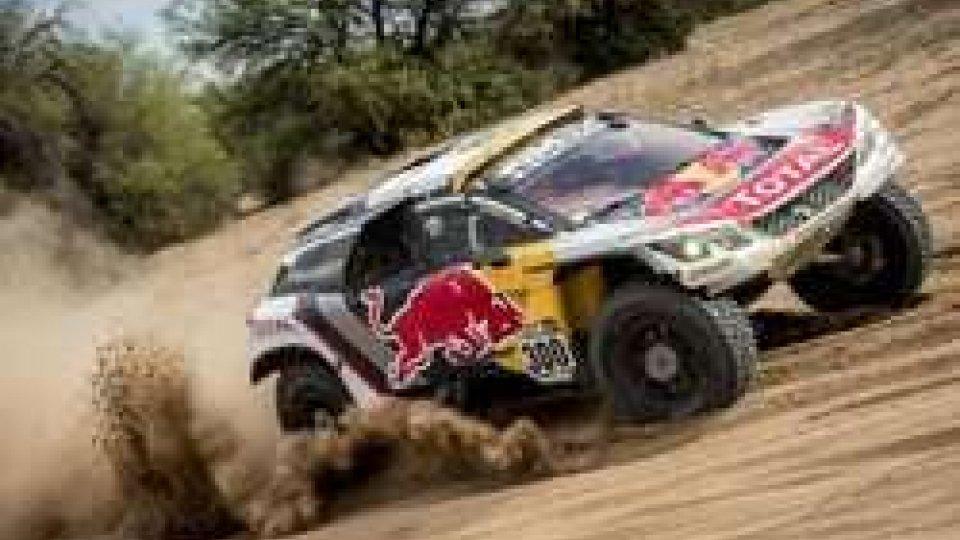 Loeb con la sua Peugeot