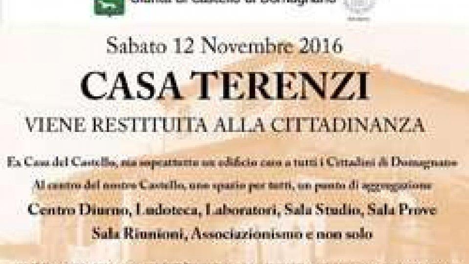Domagnano: la Casa Terenzi restituita alla cittadinanza