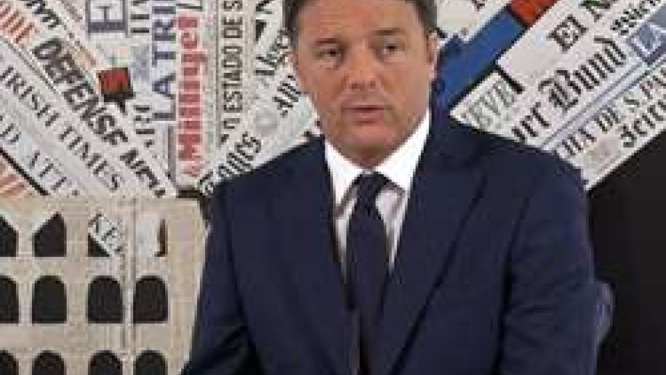 """Matteo RenziMatteo Renzi alla Stampa Estera: """"Sogno gli Stati Uniti d'Europa, San Marino deciderà"""""""
