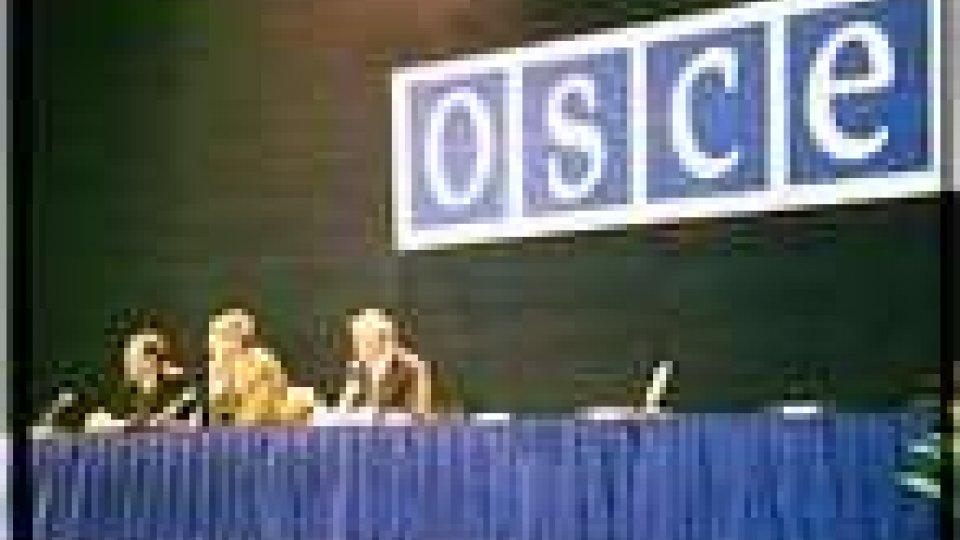 Marcucci e Morganti all'apertura dell'OSCE