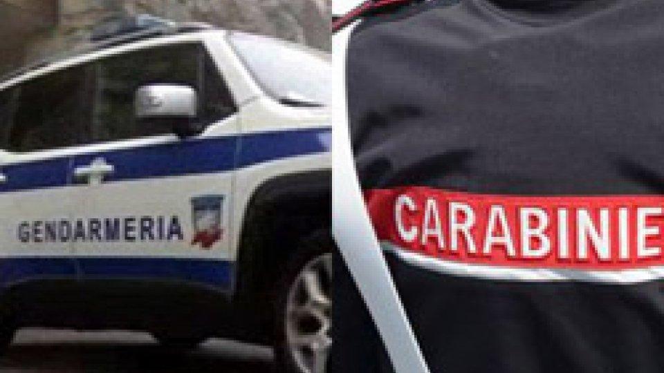 Gendarmeria e CarabinieriSpari sul Titano: è caccia all'autore, poi rintracciato dai Carabinieri di Rimini