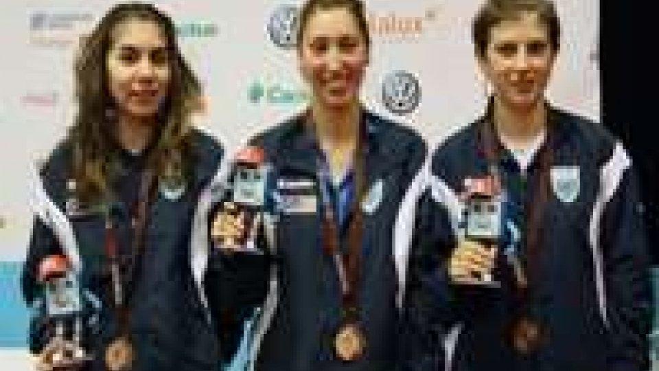 Medaglia di bronzo per il tennis tavolo femminile