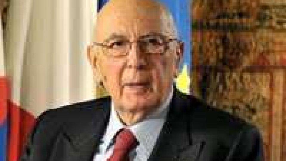 L'addio di Napolitano: ho toccato con mano peso dell'età