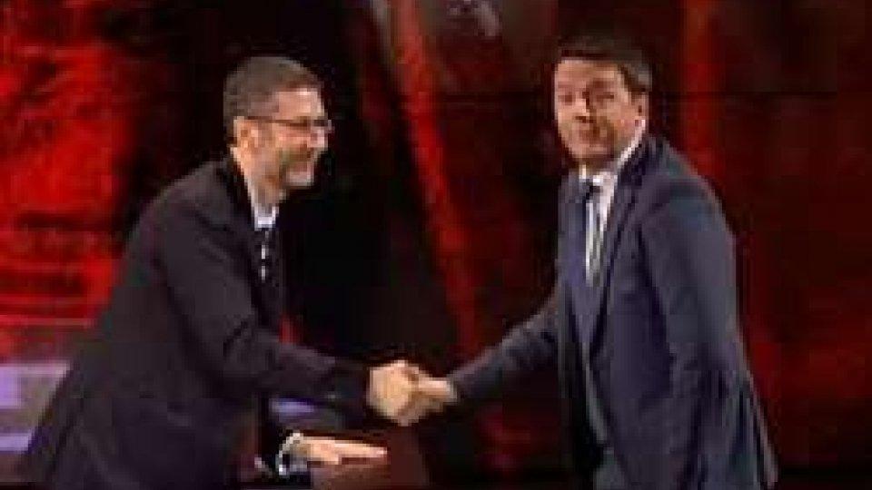 Matteo Renzi con Fabio Fazio