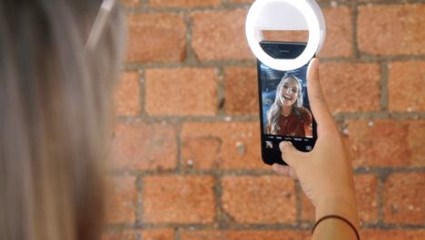 Luce per selfies