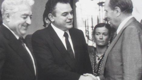 Con Francois Mitterand