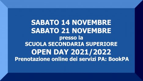 Le date dell'Open Day