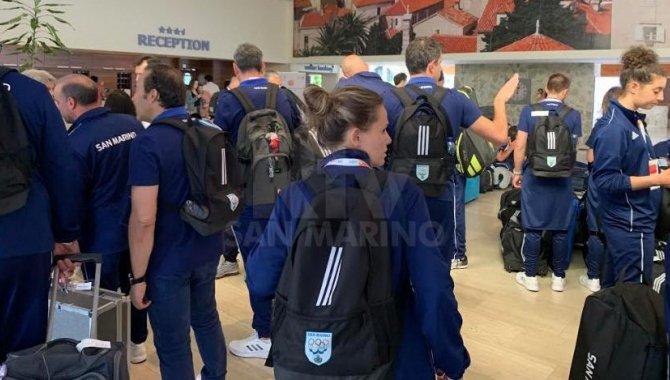 La delegazione degli atleti sammarinesi in Montenegro