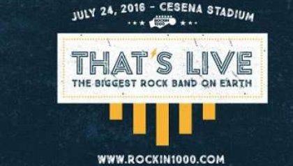 "Cesena, Rockin 1000 diventa ""That's live"""