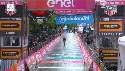 Lo sloveno Roglic vince la cronometro Riccione - San Marino