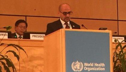 Nella seconda giornata della 72° Assemblea Mondiale dell'OMS il Segretario di Stato per la Sanità e Sicurezza Sociale Franco Santi ha preso la parola nella plenaria