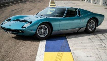 La Lamborghini Miura di Little Tony in mostra a Villa d'Este