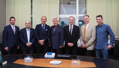 Il presidente della World Taekwondo Federation in visita al CONS