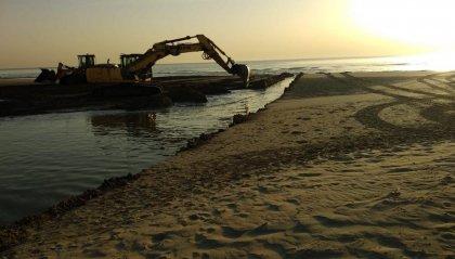 Riccione: riaperta la foce del Marano