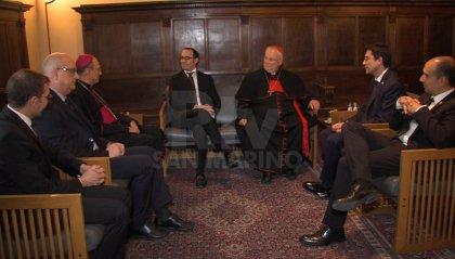 Presidente CEI, Cardinal Bassetti, a colloquio privato con i Capitani Reggenti