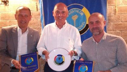 Gian Primo Giardi e Giuliano Tomassini ospiti della conviviale del Panathlon Club San Marino