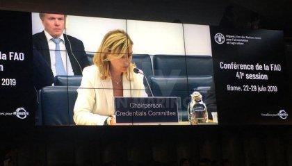 L'ambasciatore Rotondaro eletta Presidente del Comitato Affari Giuridici e Costituzionali della Fao