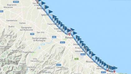 Rimini: il mare torna alla normalità