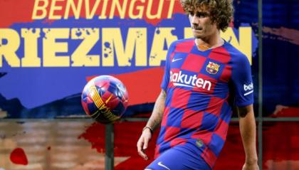 Il Barcellona presenta Antoine Griezmann
