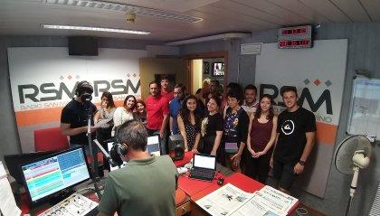 Prosegue la visita dei ragazzi dei soggiorni culturali a San Marino RTV