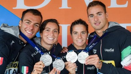 Mondiali di nuoto: Italia d'argento nella staffetta mista