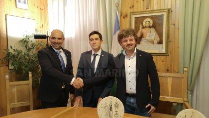 La Reggenza incontra il Sindaco di Rocca Pietore, Andrea De Bernardin:  si ragiona per gettare le basi di eventuali, future collaborazioni fra San Marino e il Comune bellunese