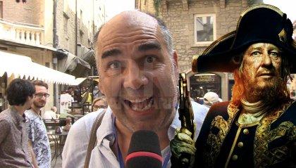 Il doppiatore Ubaldi saluta San Marino Comics con la voce di Capitan Barbossa