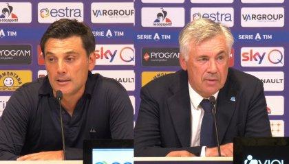 """Montella: """"L'errore dell' arbitro si capisce, il ragionamento no. Ancelotti: """" Insultato per tutta la partita"""""""