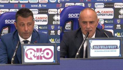 """D'Aversa: """"Ci è mancato un pizzico di cattiveria"""".  Martusciello: """" Dispiace per chi non ha giocato ma vanno fatte delle scelte. Bene il primo tempo"""""""