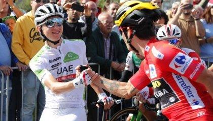 Vuelta di Spagna: a Pogacar la tappa, a Roglic il giro